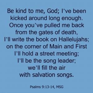 Psalms 9:13-14