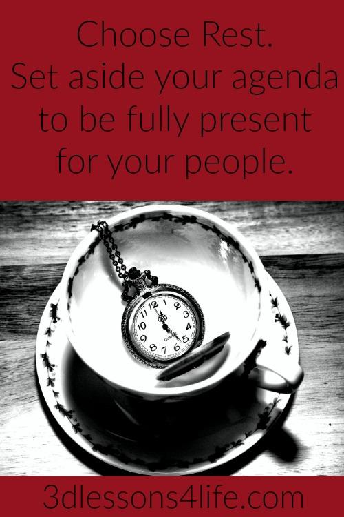 Set Aside Your Agenda