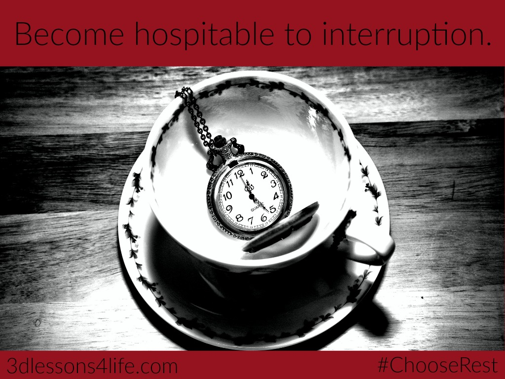 Welcome Life's Interruptions