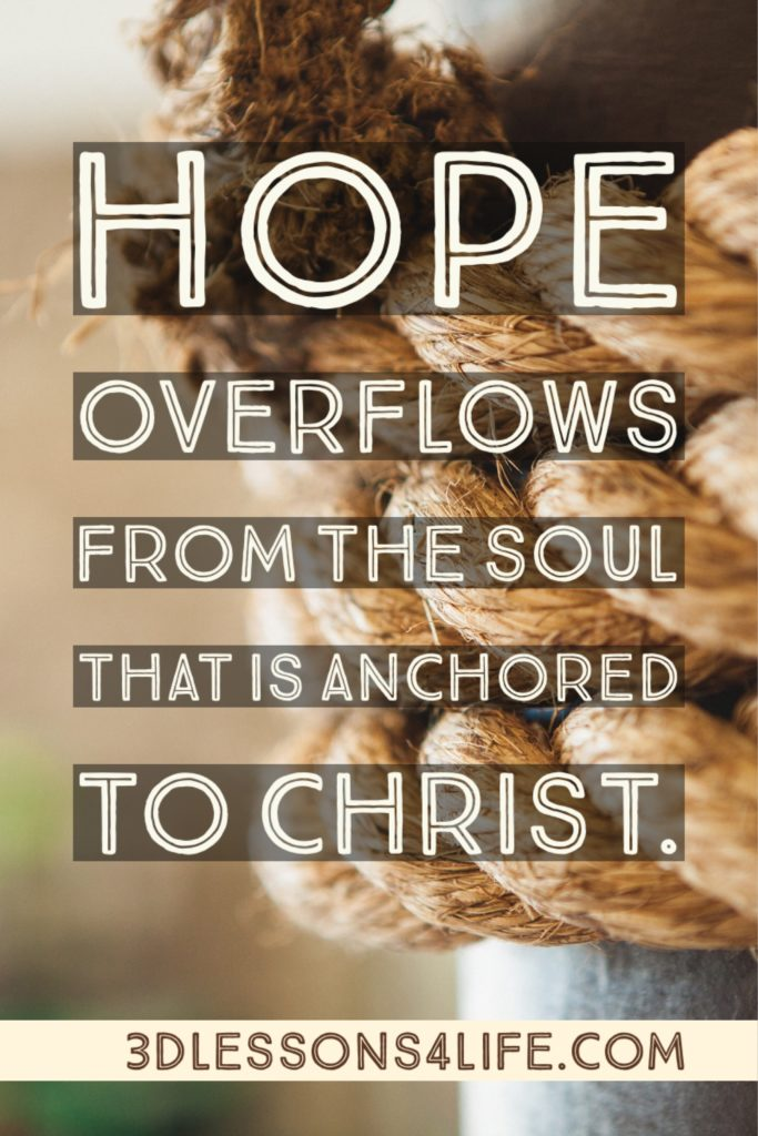 Anchored in Christ | 3dlessons4life.com