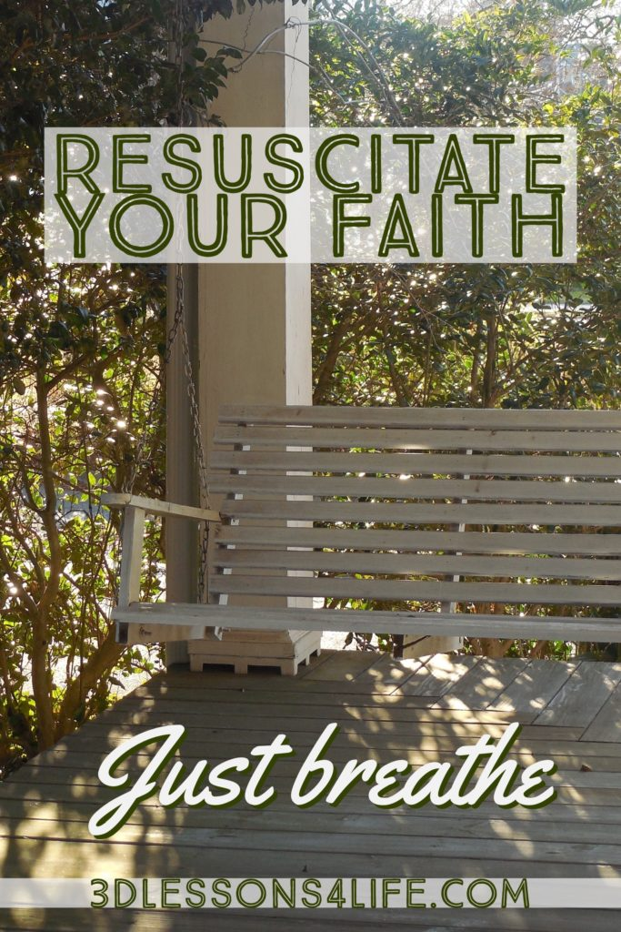 Resuscitate You Faith | Just Breathe for 31 Days - Day 19 | 3dlessons4life.com