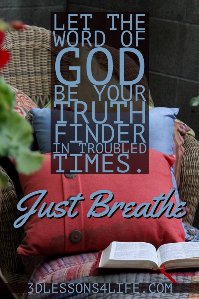 Truth Finder | Just Breathe for 31 Days - Day 25 | 3dlessons4life.com